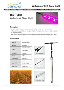 thumbnail of T12 LED grow Tube Specs