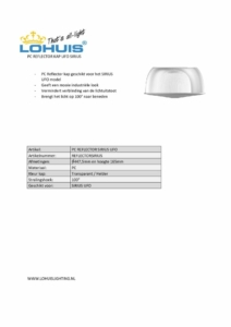 thumbnail of Specificatie PC Reflector SIRIUS UFO