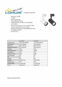 thumbnail of Specificatie Tracklight UPTL228-25W